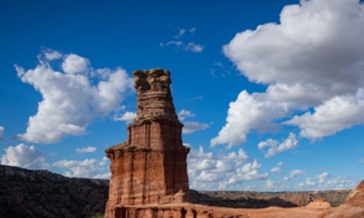Lighthouse rock formation in Palo Duro Canyon. Photo by Thomas Shahan.