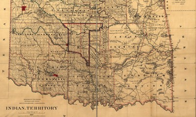 US Government 1887 Indian Terrority Map