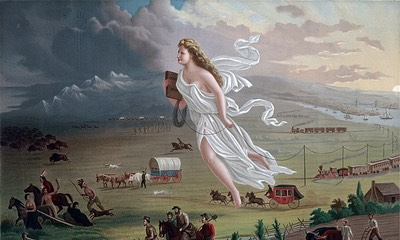 American Progress (John Gast painting, 1872). Public Domain, from Wikipedia.